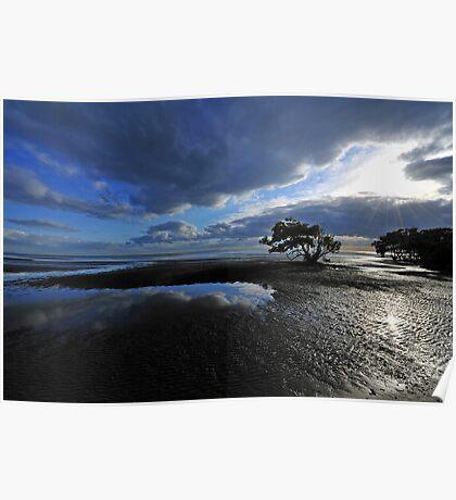 Nudgee Beach. Brisbane, Queensland, Australia. Poster