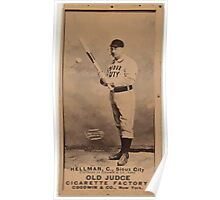 Benjamin K Edwards Collection Tony Hellman Sioux City Team baseball card portrait Poster
