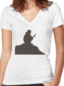 Long Nights Women's Fitted V-Neck T-Shirt