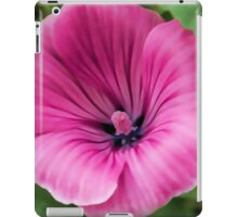 Early Summer Blooms Impressions - Bright Pink Malva iPad Case/Skin