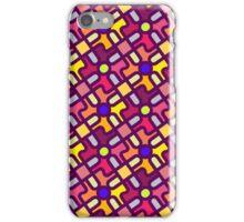fun colorful bright geometric pattern iPhone Case/Skin