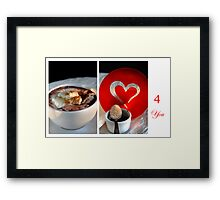 Chocolate, Cream and Sweet Moments Framed Print