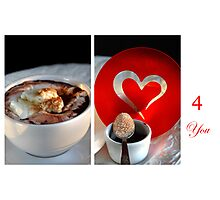 Chocolate, Cream and Sweet Moments Photographic Print