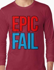 Epic Fail (red/sky blue) Long Sleeve T-Shirt