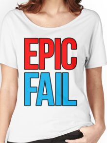 Epic Fail (red/sky blue) Women's Relaxed Fit T-Shirt