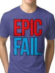 Epic Fail (red/sky blue) Tri-blend T-Shirt