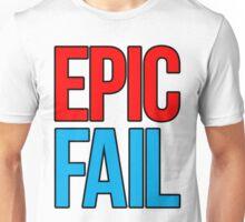 Epic Fail (red/sky blue) Unisex T-Shirt