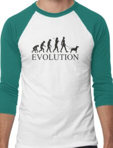 EVOLUTION bull terrier Men's Baseball ¾ T-Shirt