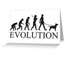 EVOLUTION bull terrier Greeting Card