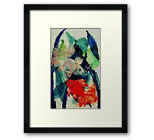 Fishy place, watercolor Framed Print