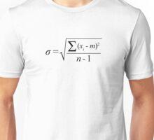 Standard Deviation formula Unisex T-Shirt