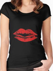 Lips Are Movin' Women's Fitted Scoop T-Shirt