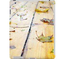 Wet wooden platform made of planks iPad Case/Skin
