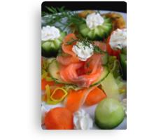 Springtime Appetizer With Salmon Canvas Print