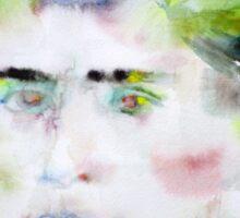 FRANZ KAFKA - watercolor portrait.5 Sticker
