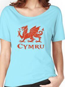 cymru wales welsh cardiff dragon Women's Relaxed Fit T-Shirt