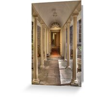 Colonnaded Courtyard, Vaucluse House, Sydney, NSW, Australia Greeting Card