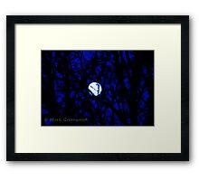 Full Hunger Moon (Snow Moon) Framed Print