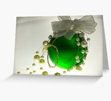 Green Bauble Greeting Card