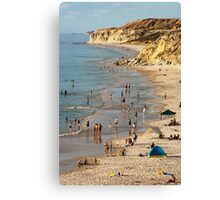 A Summers Day at the Beach Canvas Print