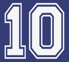 Football jersey number 10 for sports player by nadil