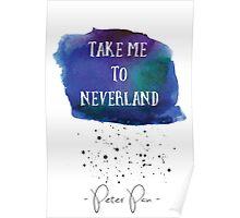 Peter Pan, Take me to Neverland  Poster