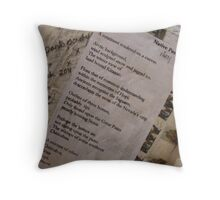 BACK OF CANVAS - WILD WEST PANTS PARTY *NATIVE PEOPLES* 1 POETRY  Throw Pillow