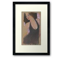 oil pastel doodle - dress Framed Print