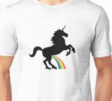 Unicorn Rainbow Pee (black design) Unisex T-Shirt
