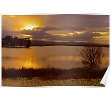 Lake Samsonvale at sunset. Brisbane, Queensland, Australia. Poster