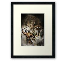 Odin and Fenrir Framed Print