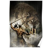 Odin and Fenrir Poster