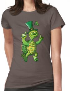 Saint Patrick's Day Turtle Womens Fitted T-Shirt