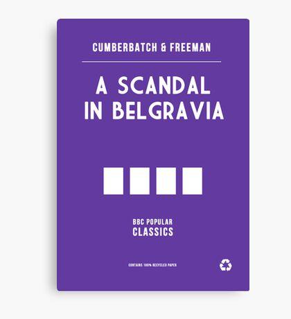 BBC Sherlock - A Scandal in Belgravia Minimalist Canvas Print