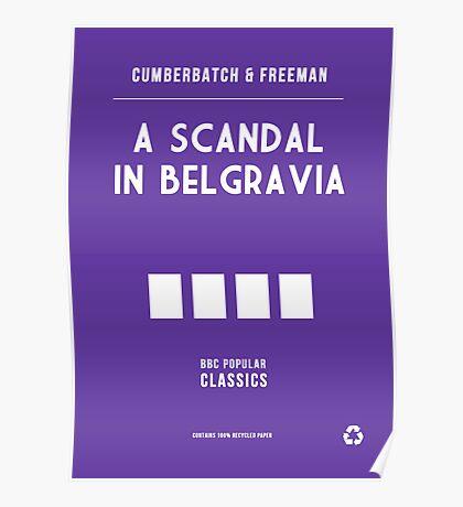 BBC Sherlock - A Scandal in Belgravia Minimalist Poster