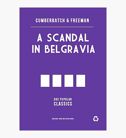 BBC Sherlock - A Scandal in Belgravia Minimalist Photographic Print