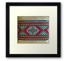 """""""Latvian Pillow - RED""""© Framed Print"""