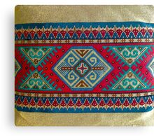 """Latvian Pillow - RED""© Canvas Print"
