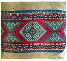 """""""Latvian Pillow - RED""""© Poster"""