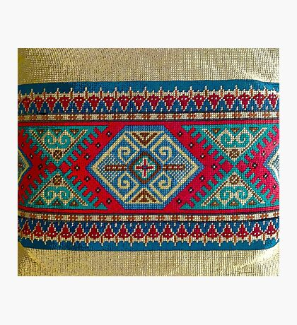 """Latvian Pillow - RED""© Photographic Print"