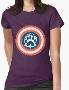 Captain Bear Womens Fitted T-Shirt