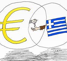 caricature des options binaires - la Grèce, l'UE et l'EURO by Binary-Options