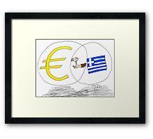 caricature des options binaires - la Grèce, l'UE et l'EURO Framed Print