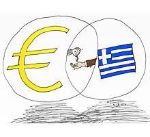 caricature des options binaires - la Grèce, l'UE et l'EURO Photographic Print