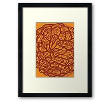 Graphic pinecone Framed Print