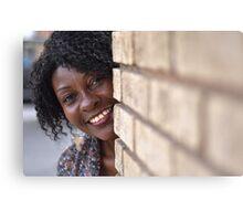 Brenda peaking around corner RO Canvas Print
