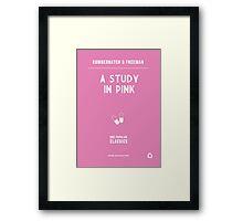 BBC Sherlock - A Study in Pink Minimalist Framed Print