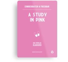 BBC Sherlock - A Study in Pink Minimalist Metal Print