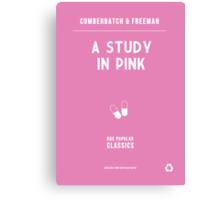 BBC Sherlock - A Study in Pink Minimalist Canvas Print