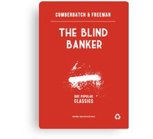 BBC Sherlock - The Blind Banker Minimalist Canvas Print